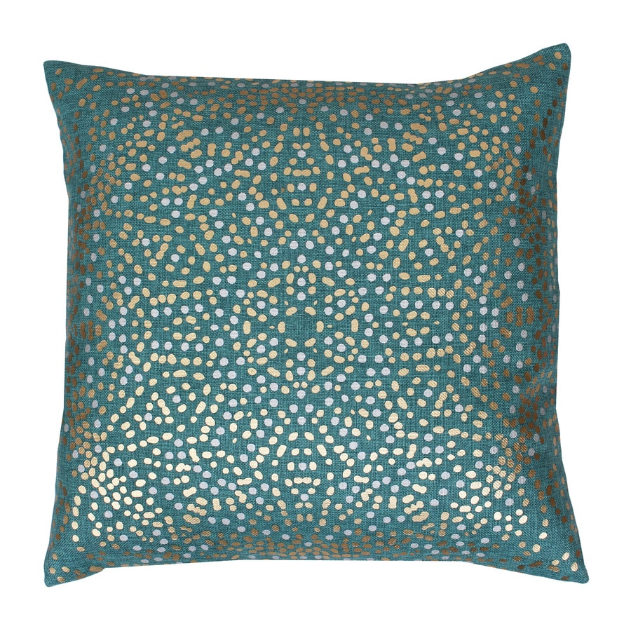 Decorative Pillow Covers Lowes : Shop 20-in W x 20-in L Turquoise Indoor Decorative Pillow at Lowes.com