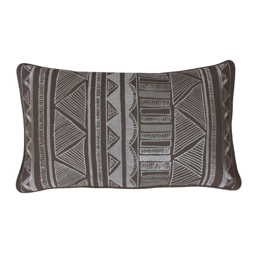 20-in W x 12-in L Elephant Skin Indoor Decorative Pillow