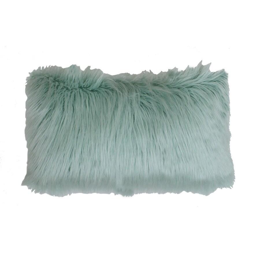 Keller Faux Mongolian 20-in W x 12-in L Harbor Indoor Decorative Pillow