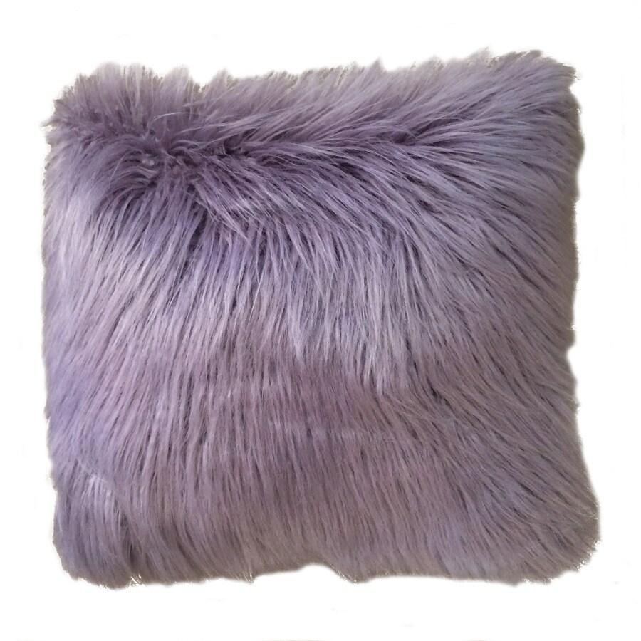 Keller Faux Mongolian 16-in W x 16-in L Nirvana Indoor Decorative Pillow