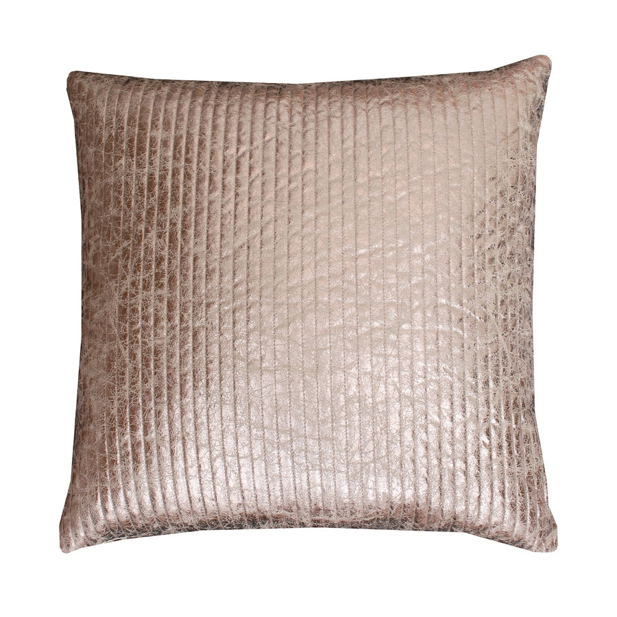 Gary Quilted Crackle 26-in W x 26-in L Gold Square Indoor Decorative Pillow