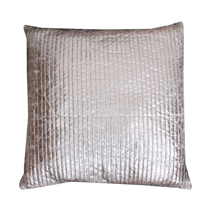 Gary Quilted Crackle 20-in W x 20-in L Silver Square Indoor Decorative Pillow