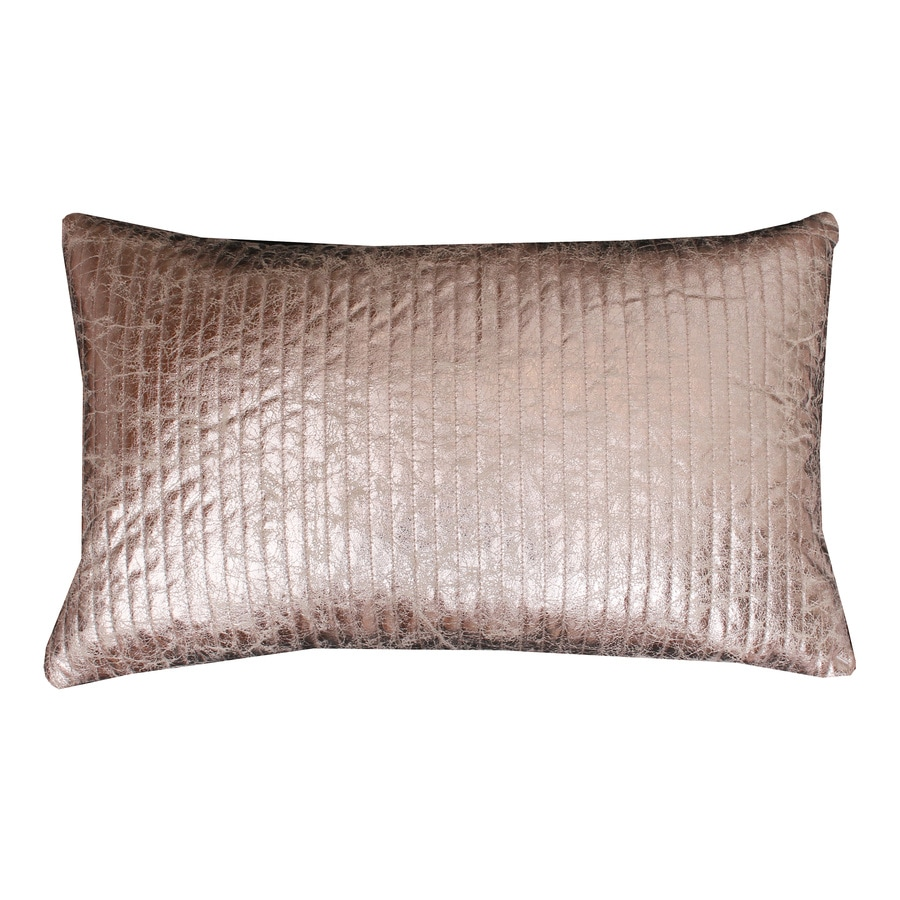 Gary Quilted Crackle 20-in W x 12-in L Gold Indoor Decorative Pillow