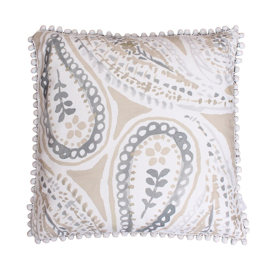 20-in W x 20-in L Silver Natural Indoor Decorative Pillow