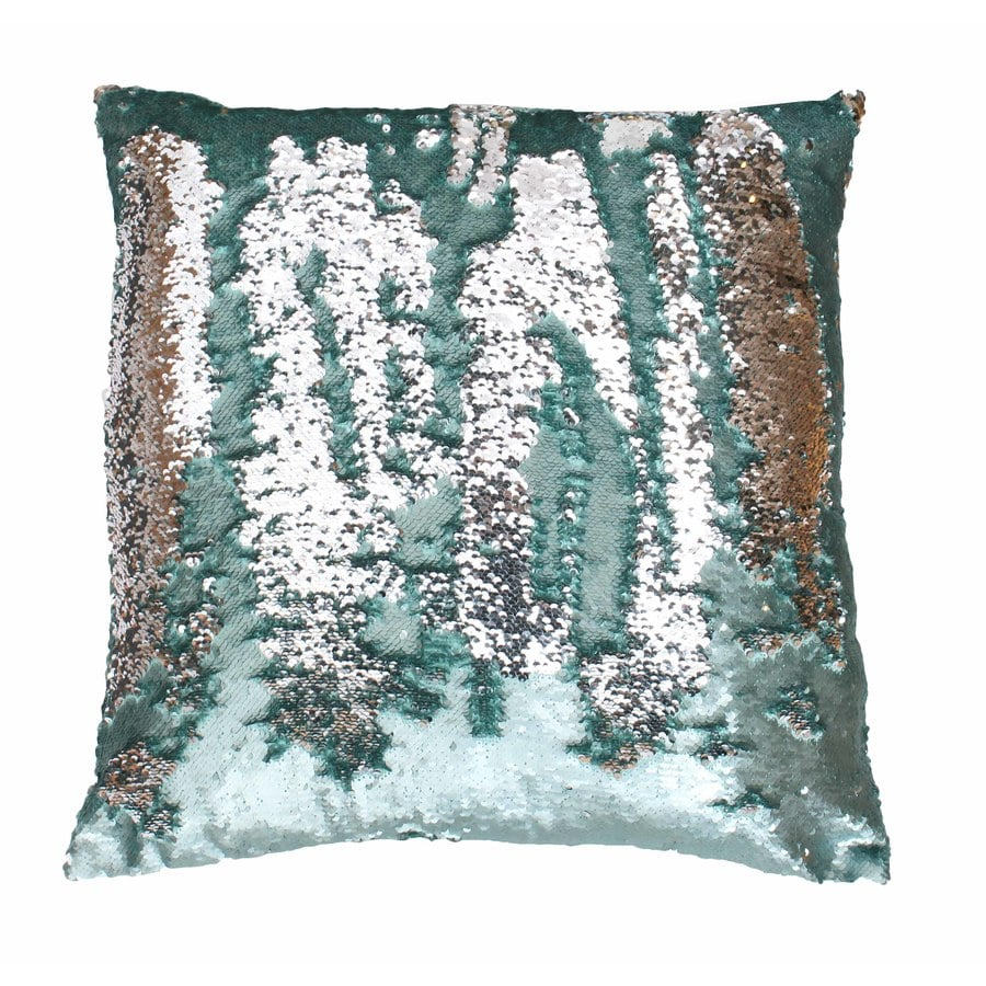 Decorative Pillows With Sequins : Shop Melody Mermaid Reversible Sequins 20-in W x 20-in L Harbor Silver Square Indoor Decorative ...