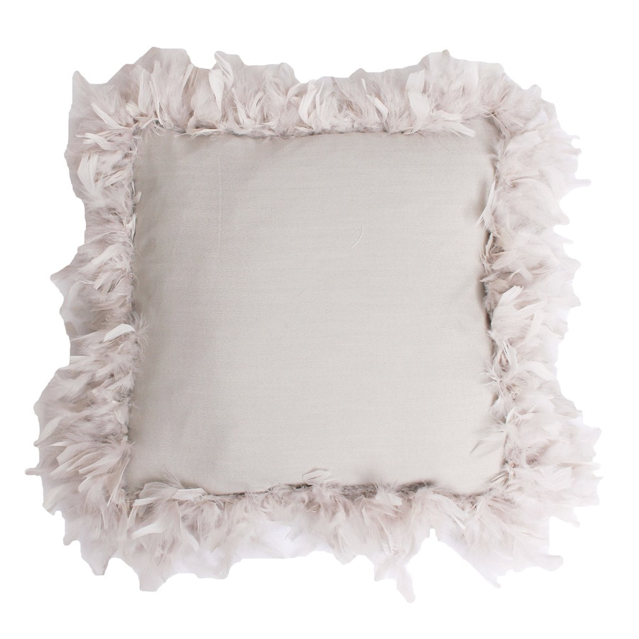 19-in W x 19-in L Oatmeal Indoor Decorative Pillow
