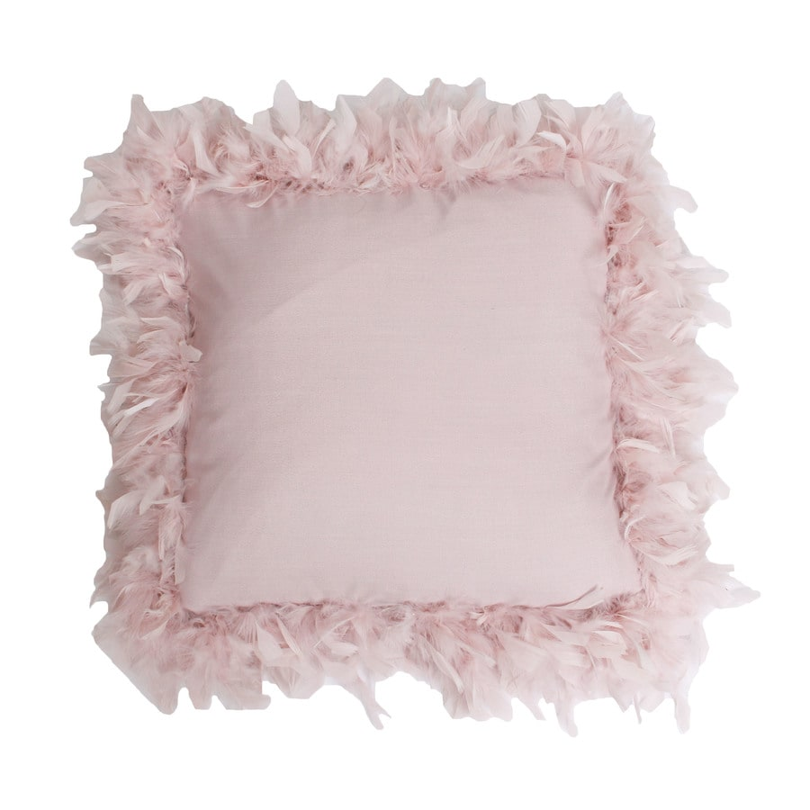 19-in W x 19-in L Rose Smoke Indoor Decorative Pillow