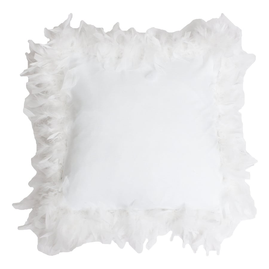 19-in W x 19-in L White Indoor Decorative Pillow