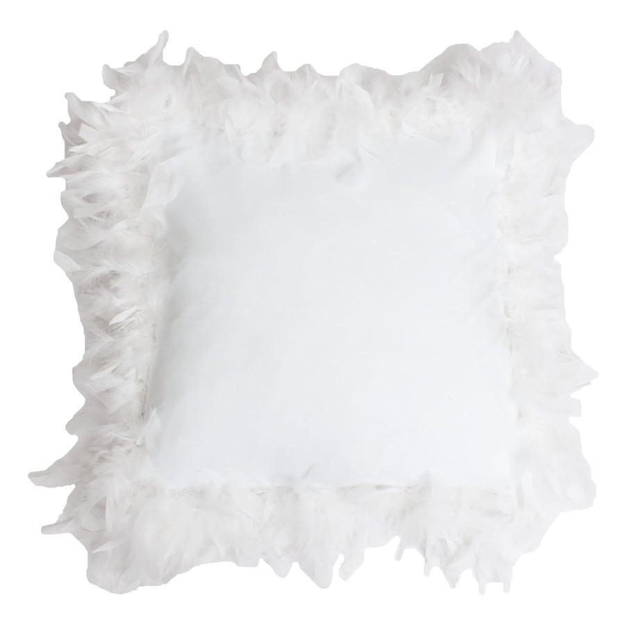 19-in W x 19-in L White Square Indoor Decorative Pillow