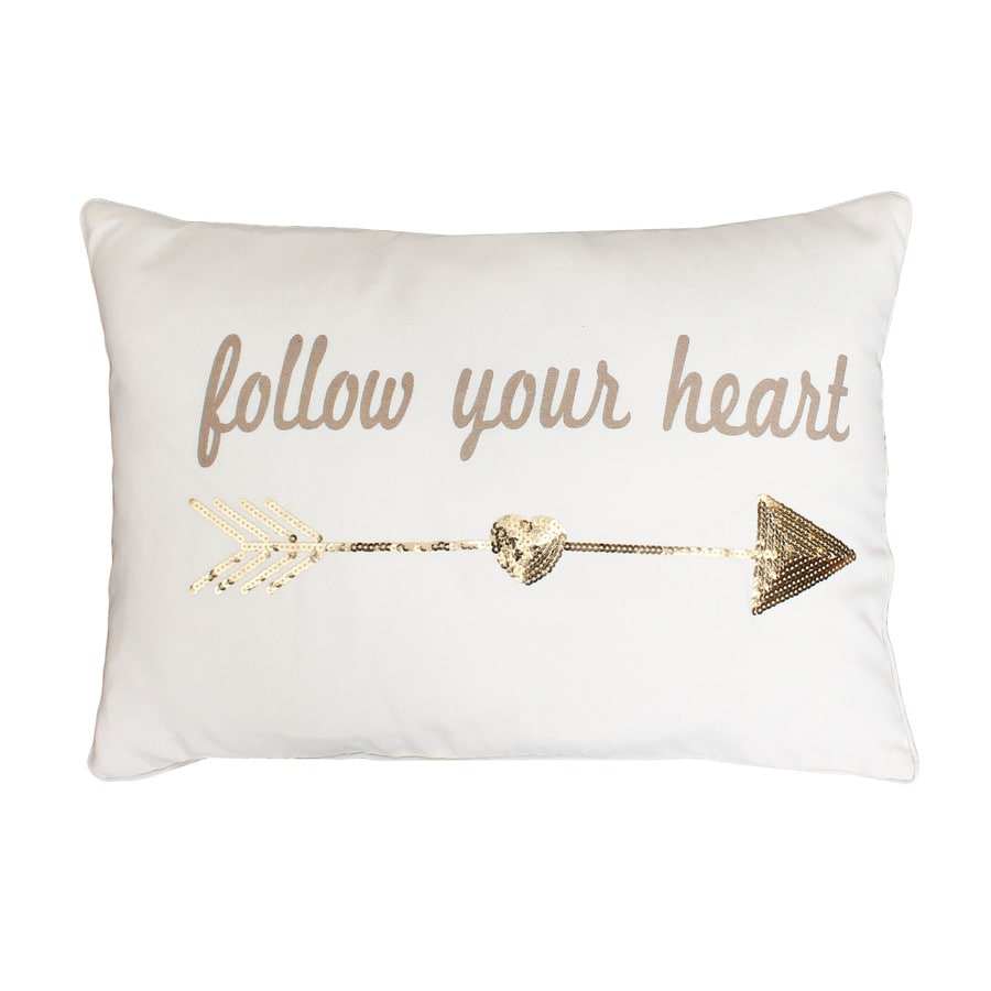 20-in W x 14-in L Egret Gold Indoor Decorative Pillow