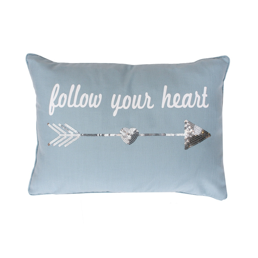 20-in W x 14-in L Tourmaline Rectangular Indoor Decorative Pillow
