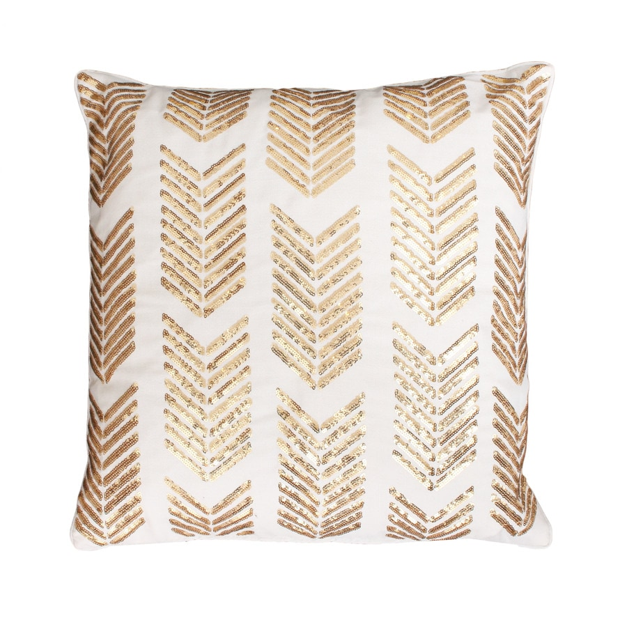 18-in W x 18-in L Egret Gold Square Indoor Decorative Pillow