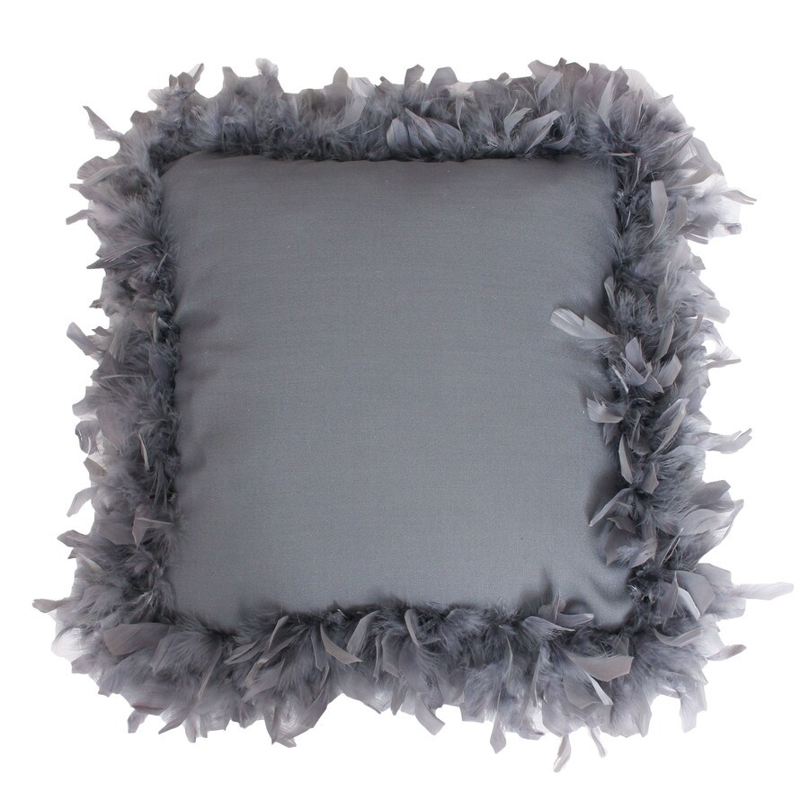 19-in W x 19-in L Charcoal Square Indoor Decorative Pillow