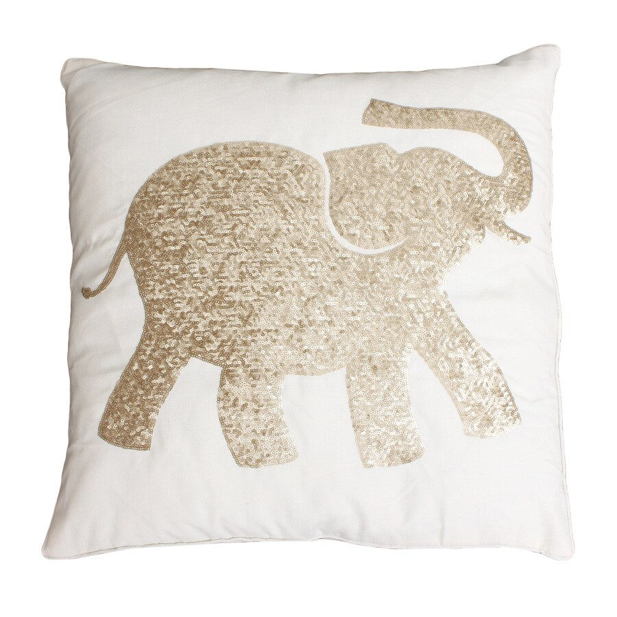 20-in W x 20-in L Egret Gold Indoor Decorative Pillow