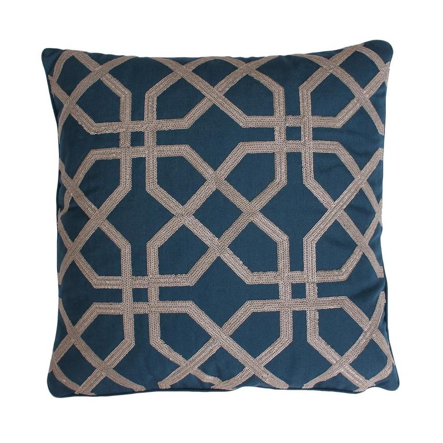 allen + roth 18-in W x 18-in L Midnight Navy Square Indoor Decorative Pillow