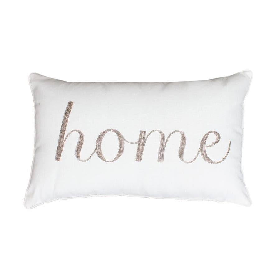 allen + roth 20-in W x 12-in L Antique White Indoor Decorative Pillow