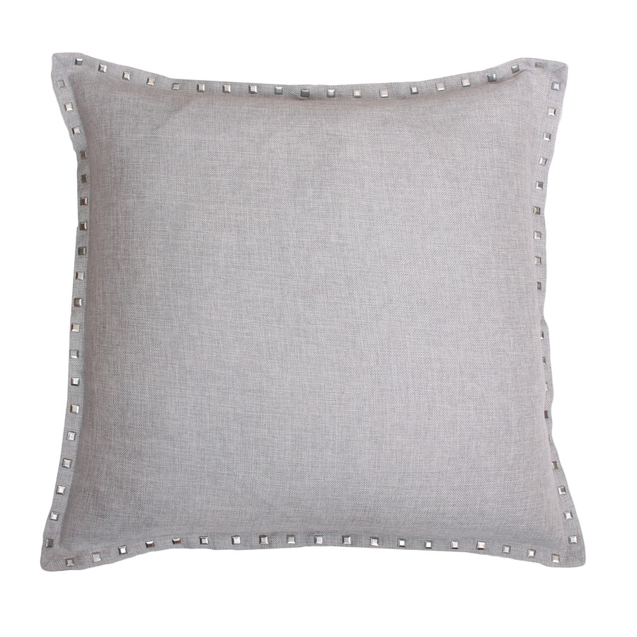 allen + roth 1-Piece 22-in W x 22-in L Silver Square Indoor Decorative Pillow