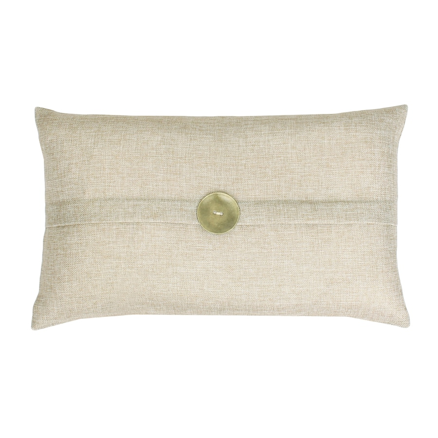 allen + roth Soft Harmony 20-in W x 12-in L Natural Rectangular Indoor Decorative Pillow