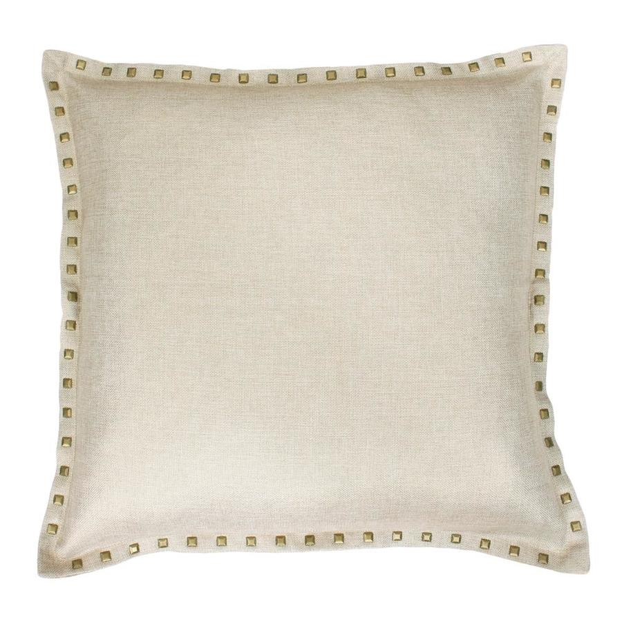 allen + roth Swept Away 22-in W x 22-in L Natural Square Indoor Decorative Pillow