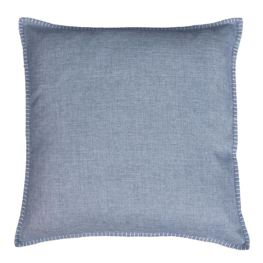 allen + roth 22-in W x 22-in L Admiral Blue Indoor Decorative Pillow