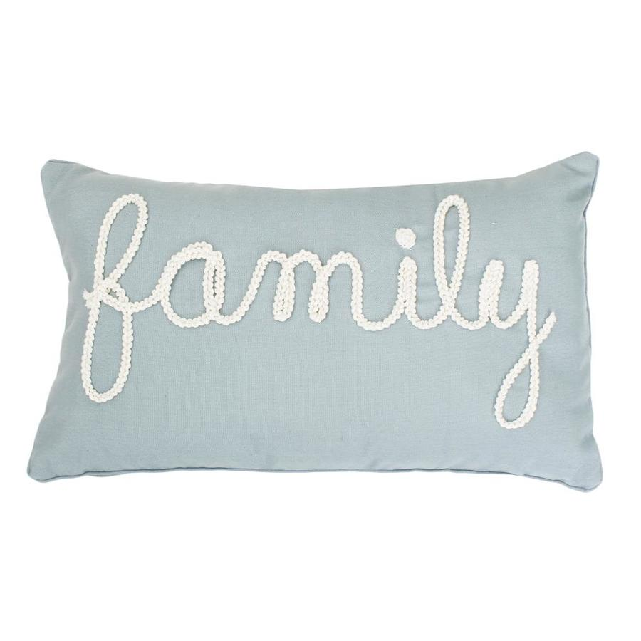 allen + roth 20-in W x 12-in L Silver Oblong Indoor Decorative Pillow