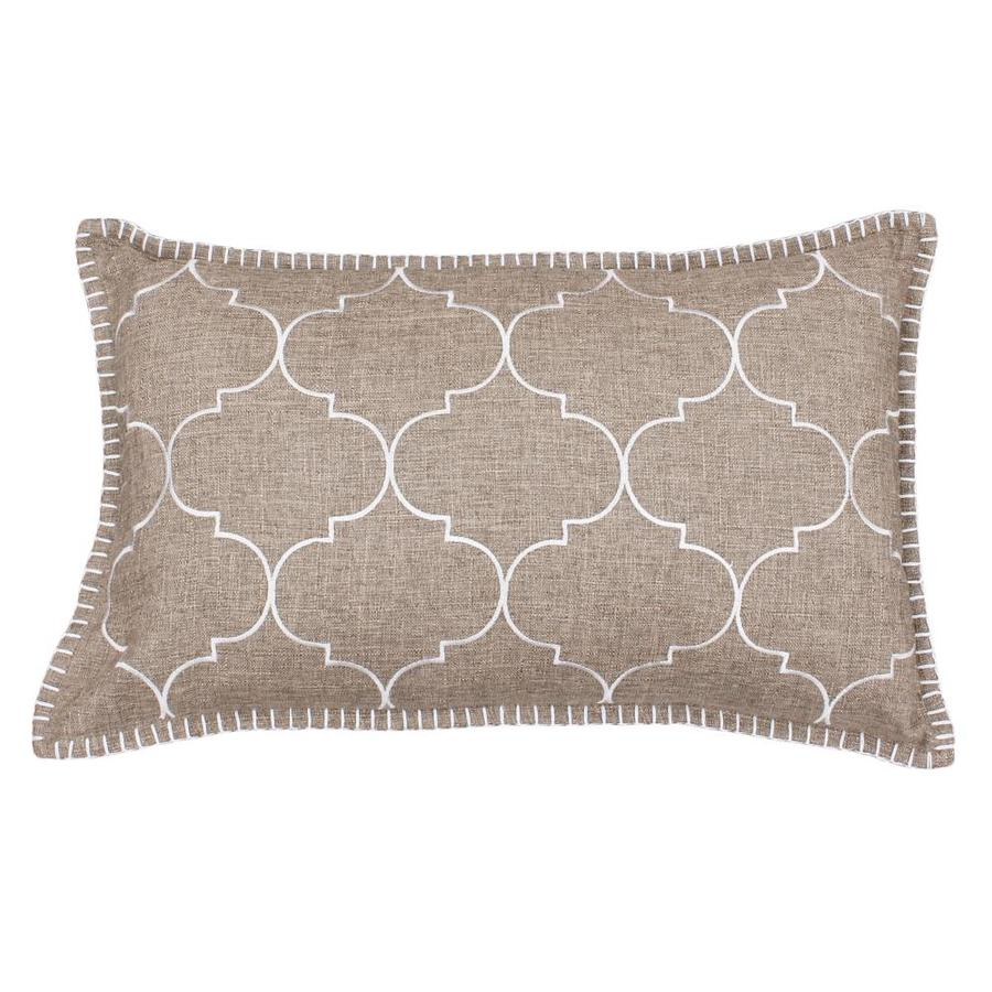 20-in W x 12-in L LEAD Gray Oblong Indoor Decorative Pillow