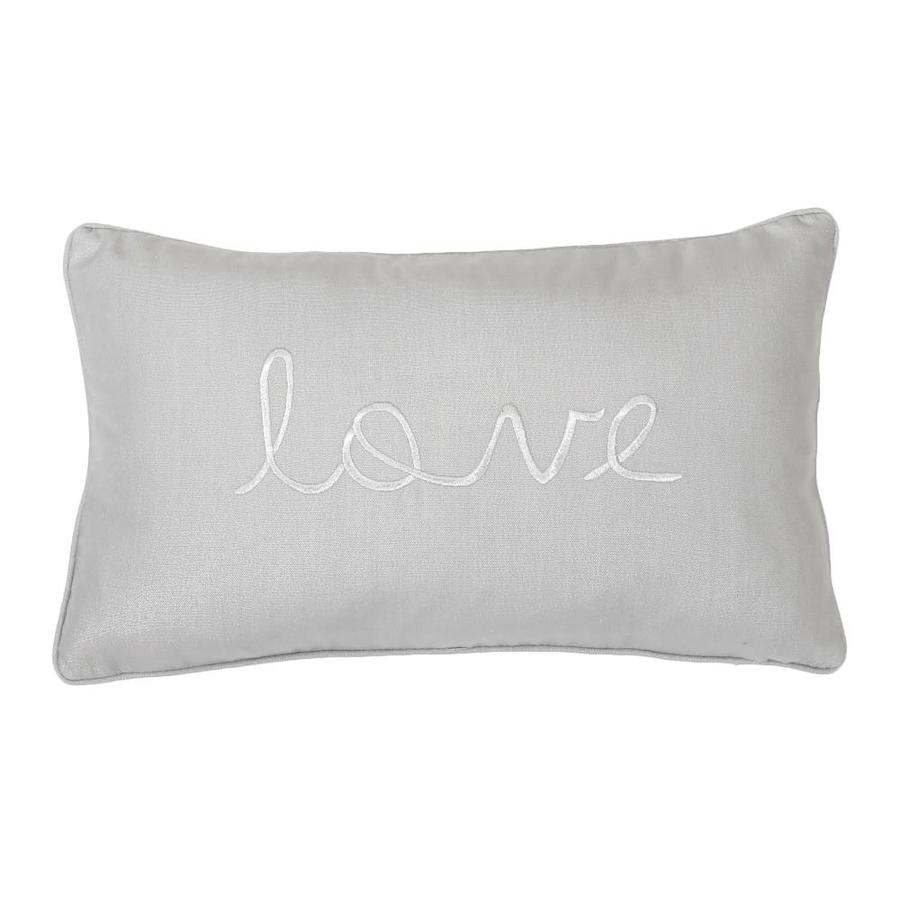 20-in W x 12-in L Silver Oblong Indoor Decorative Pillow