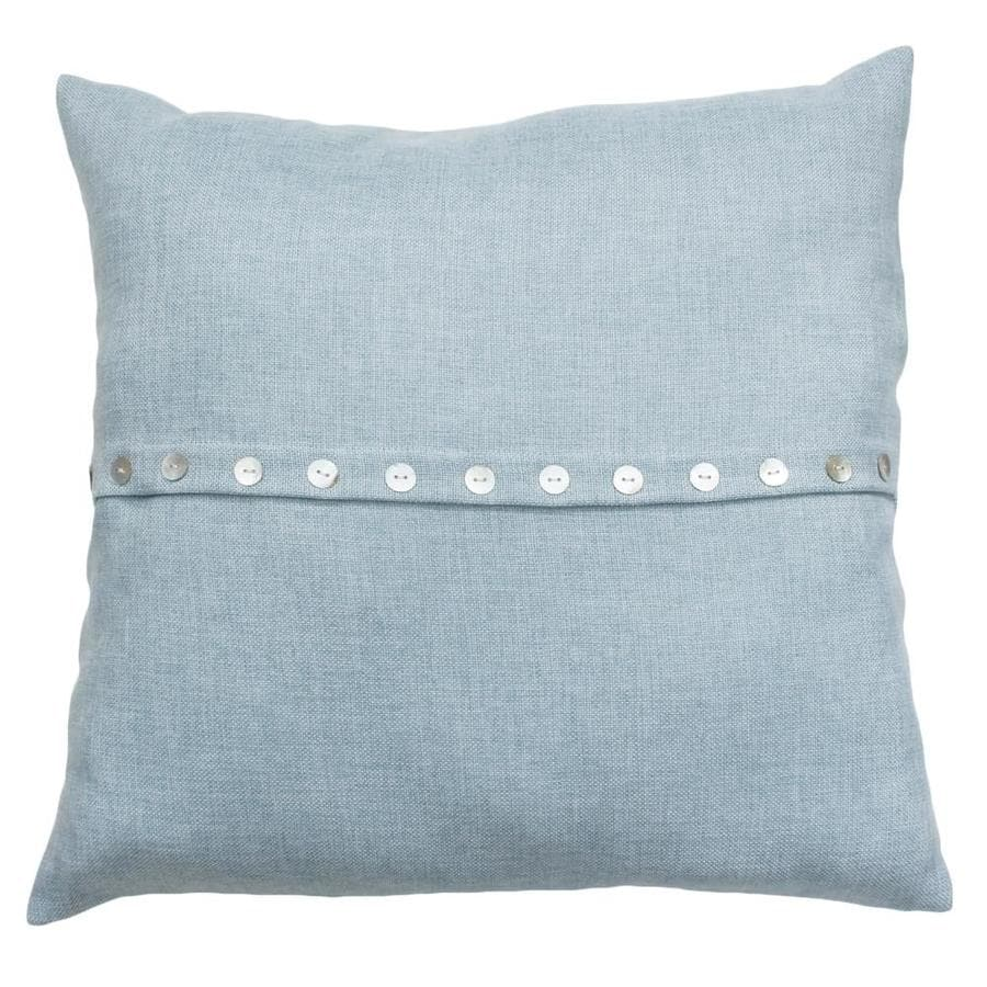 Blue Decorative Pillows Part - 22: 20-in W X 20-in L Blue Indoor Decorative Pillow