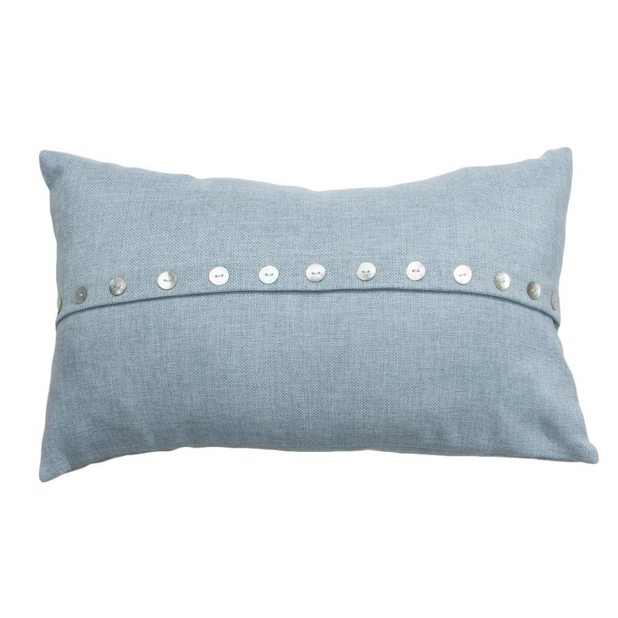 20-in W x 12-in L Blue Oblong Indoor Decorative Pillow