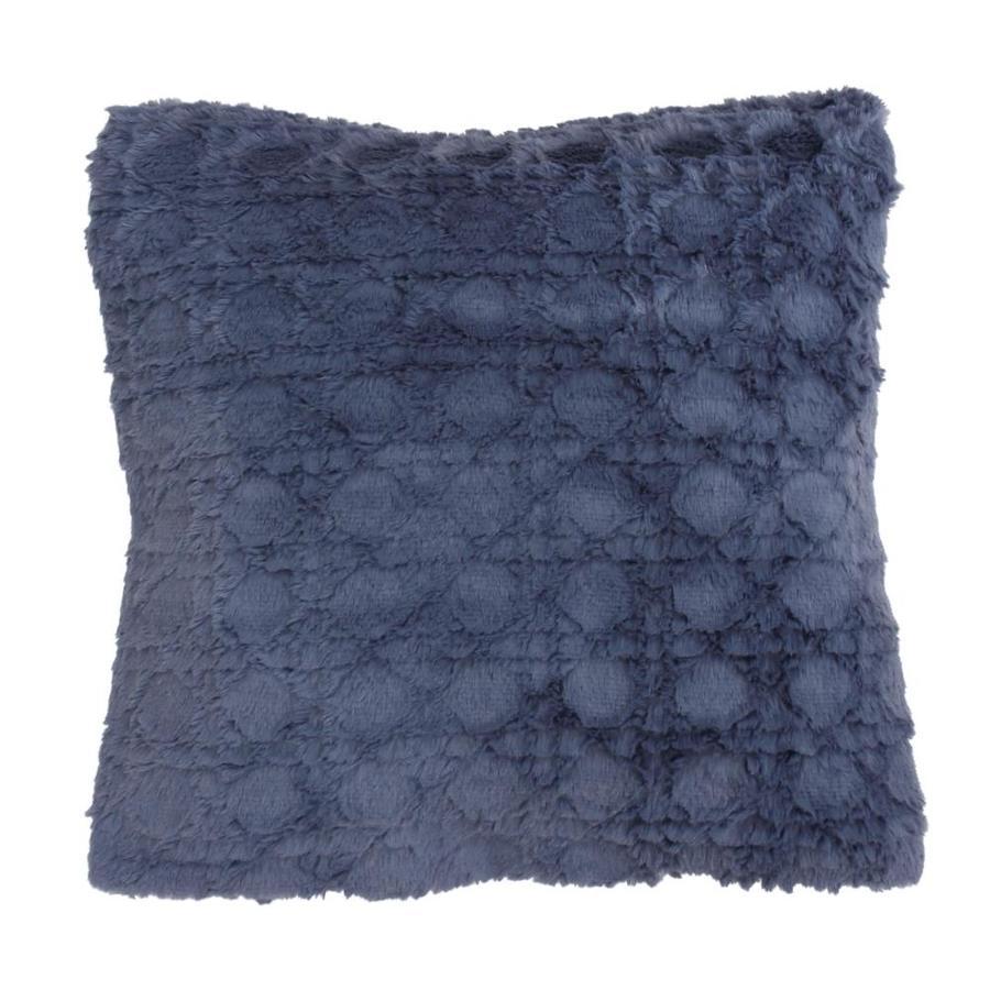 20-in W x 20-in L Navy Rectangular Indoor Decorative Pillow