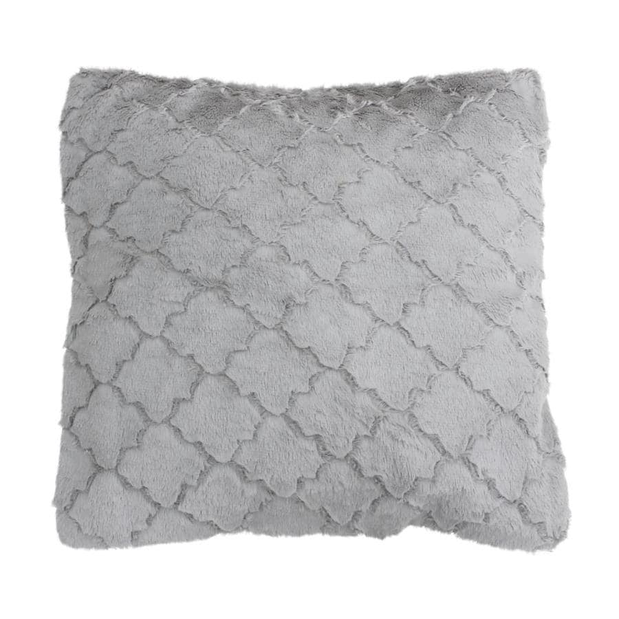 20in w x 20in l silver rectangular indoor decorative pillow