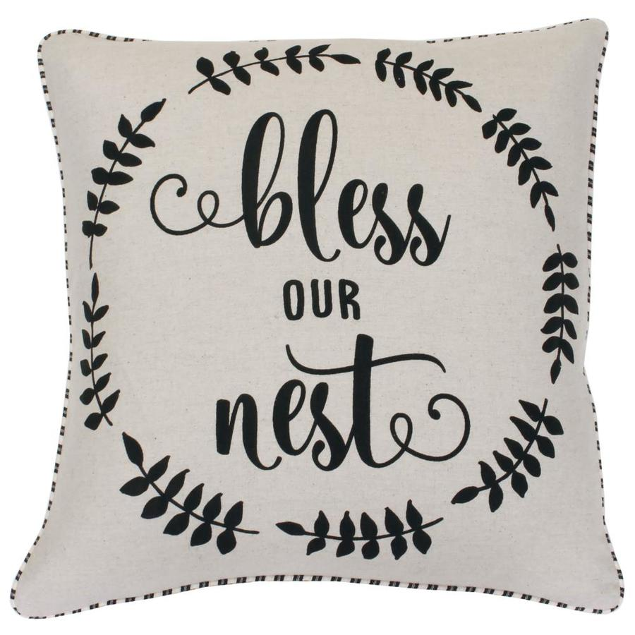 Allen + Roth A+R 20-INX20-IN Bless Our Nest Pillow At Lowesforpros.com