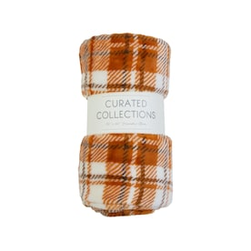 CURATED COLLECTIONS Curated Collections Multi Orange 50-in W Polyester Throw
