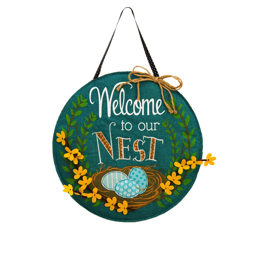 Evergreen 1.25-ft W x 1.875-ft H Birds Embroidered Banner