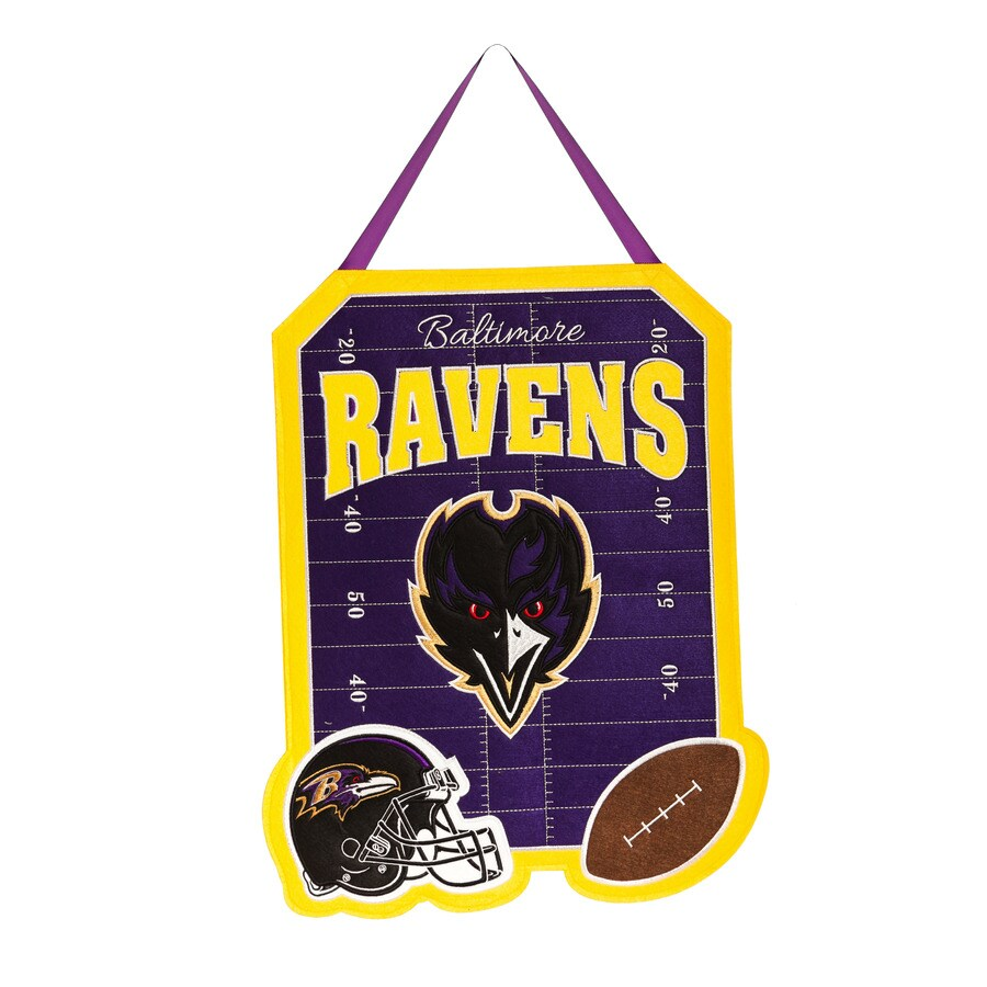 Evergreen 1.25-ft W x 1.66-ft H Sports Embroidered Maryland Baltimore Ravens Flag