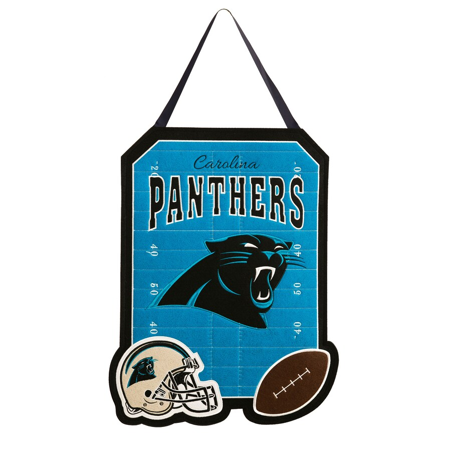 Evergreen 1.25-ft W x 1.66-ft H Sports Embroidered North Carolina Panthers Flag