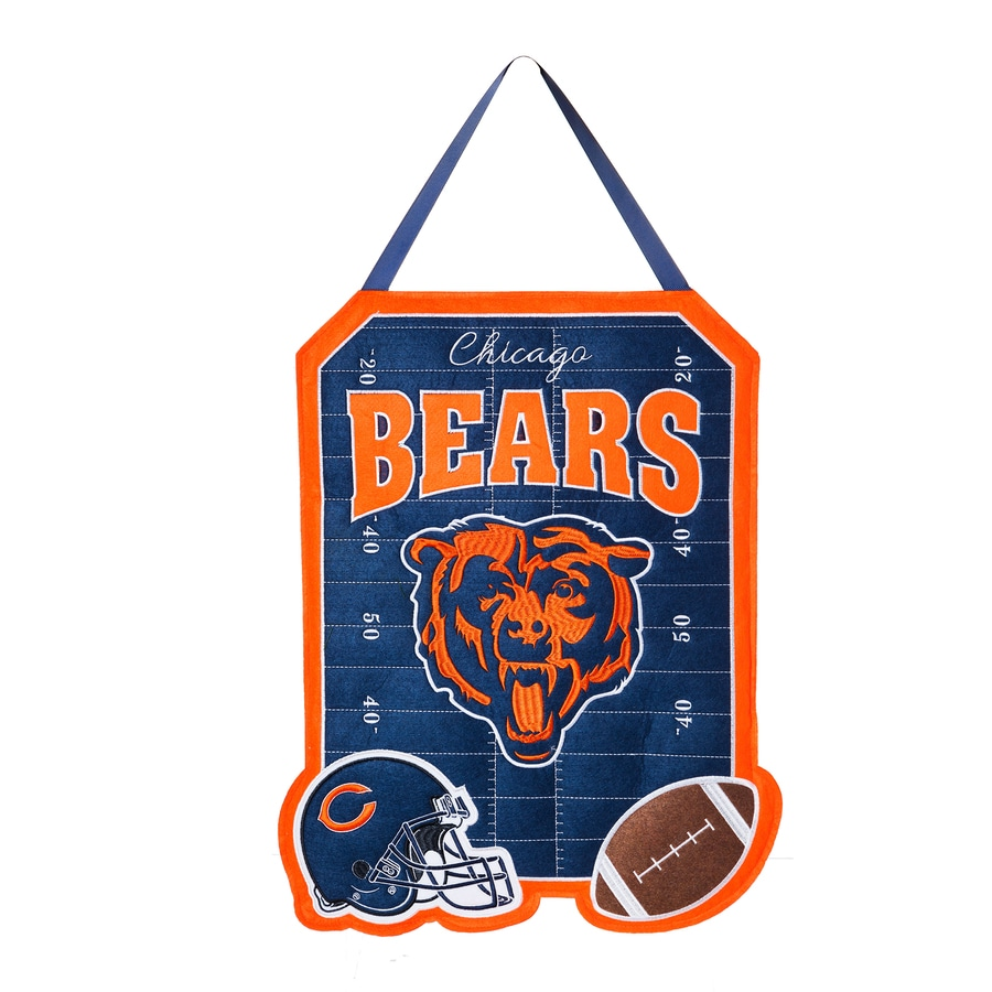 Evergreen 1.25-ft W x 1.66-ft H Sports Embroidered Illinois Chicago Bears Flag