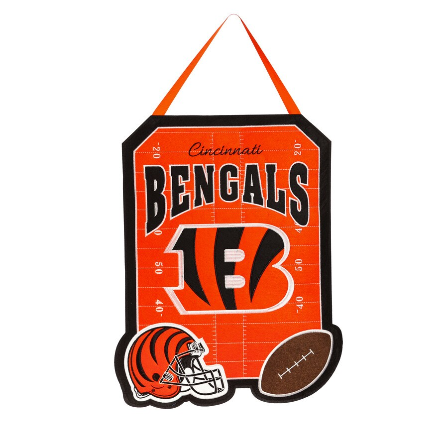 Evergreen 1.25-ft W x 1.66-ft H Sports Embroidered Ohio Cincinnati Bengals Flag