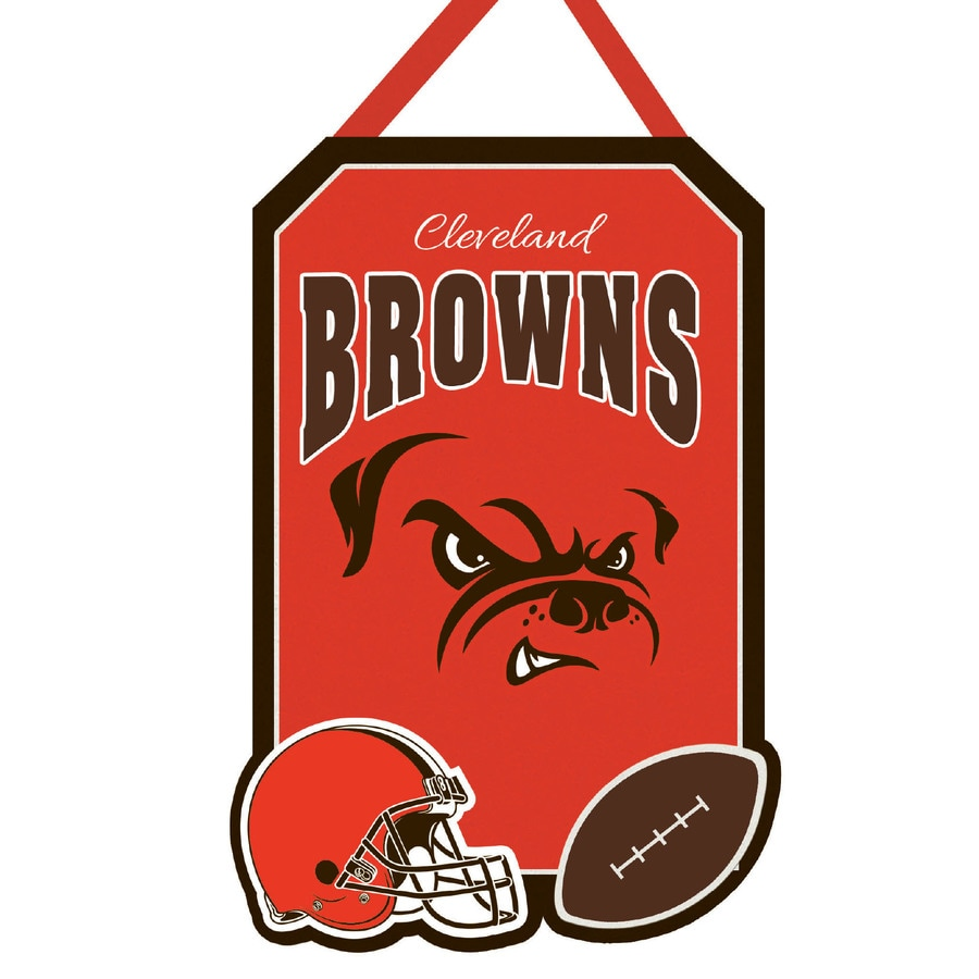 Evergreen 1.25-ft W x 1.66-ft H Sports Embroidered Ohio Cleveland Browns Flag