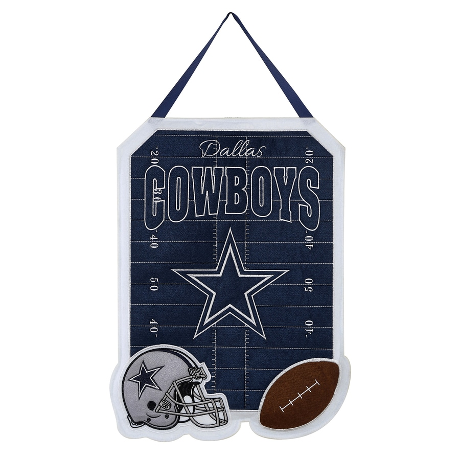 Evergreen 1.25-ft W x 1.66-ft H Sports Embroidered Texas Dallas Cowboys Flag