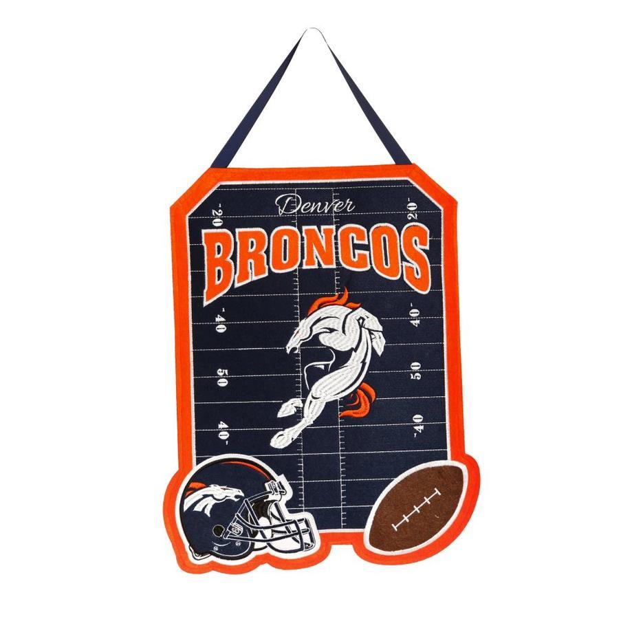 Evergreen 1.25-ft W x 1.66-ft H Sports Embroidered Colorado Denver Broncos Flag
