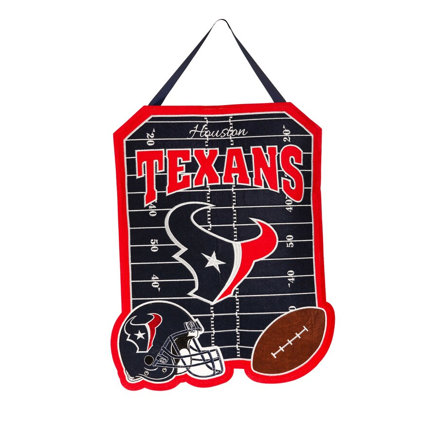 Evergreen 1.25-ft W x 1.66-ft H Sports Embroidered Texas Houston Texans Flag