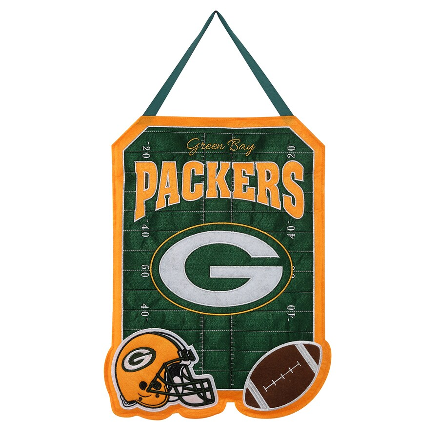Evergreen 1.25-ft W x 1.66-ft H Sports Embroidered Wisconsin Green Bay Packers Flag