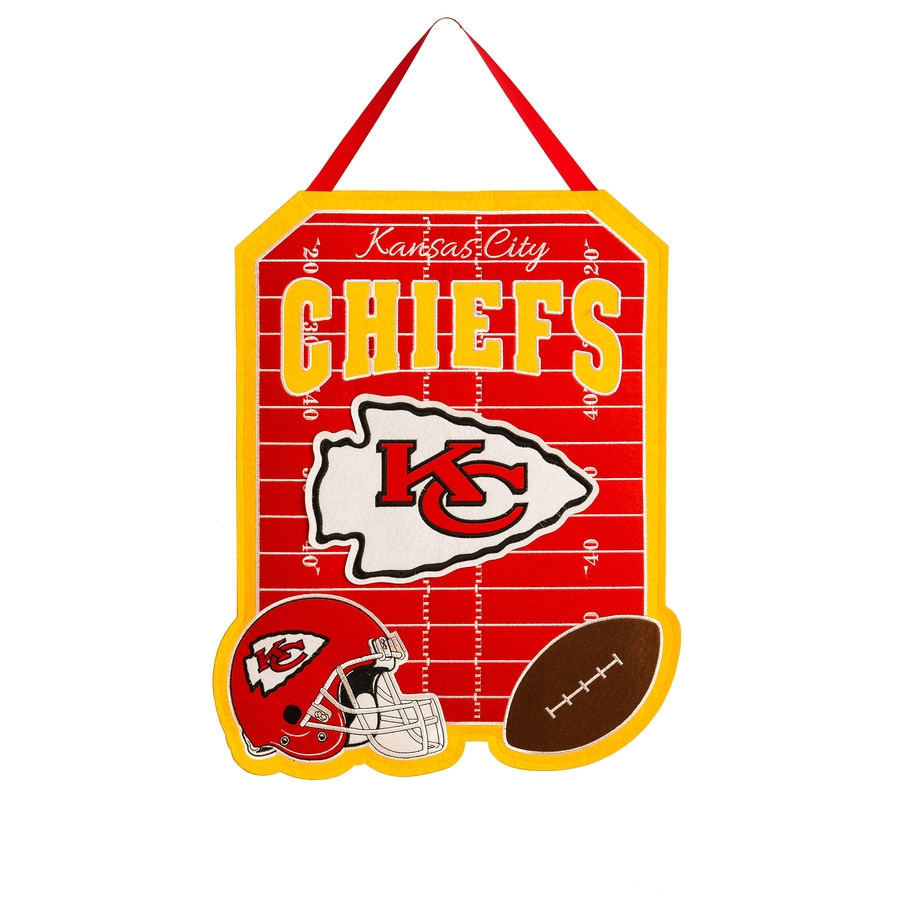 Evergreen 1.25-ft W x 1.66-ft H Sports Embroidered Missouri Kansas City Chiefs Flag