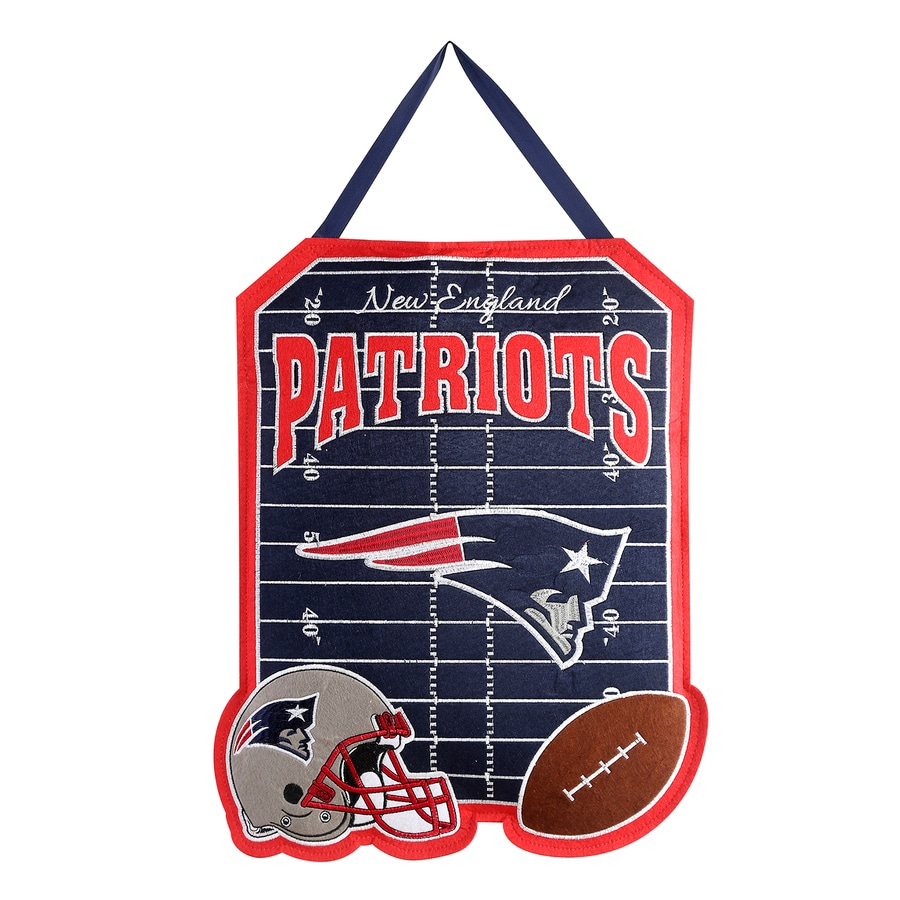 Evergreen 1.25-ft W x 1.66-ft H Sports Embroidered Massachusetts New England Patriots Flag