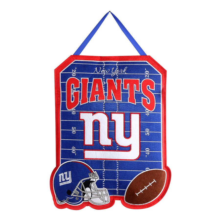 Evergreen 1.25-ft W x 1.66-ft H Sports Embroidered New York Giants Flag