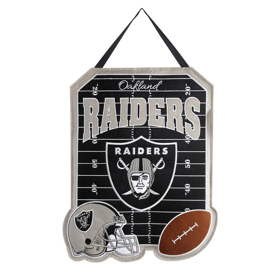 Evergreen 1.25-ft W x 1.66-ft H Sports Embroidered California Oakland Raiders Flag