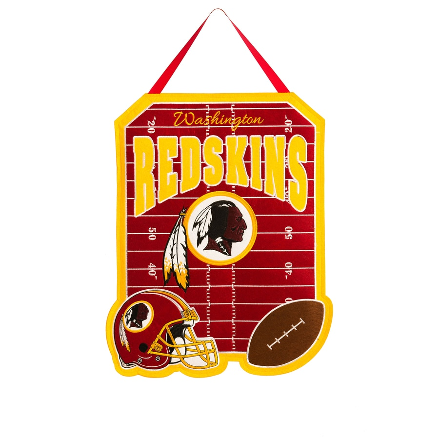 Evergreen 1.25-ft W x 1.66-ft H Sports Embroidered Washington Redskins Flag
