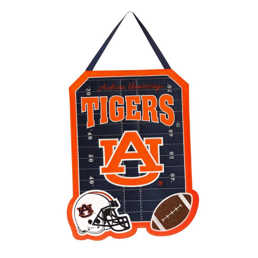 Evergreen 1.25-ft W x 1.66-ft H Sports Embroidered Alabama Auburn Tigers Flag