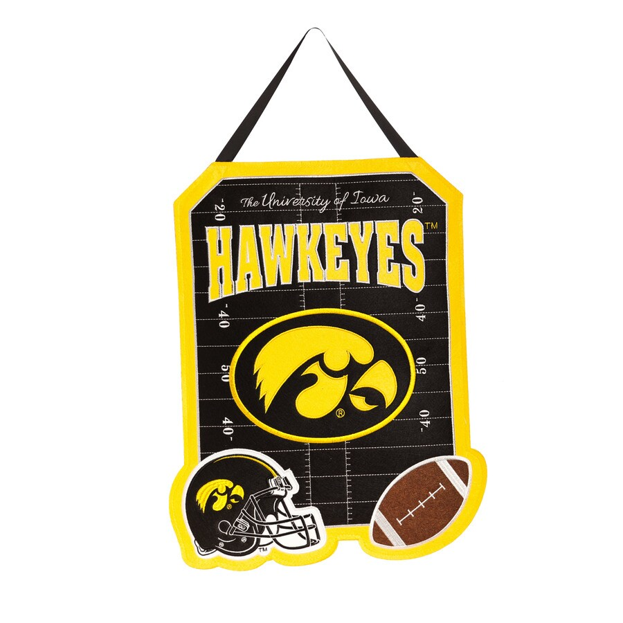 Evergreen 1.25-ft W x 1.66-ft H Sports Embroidered Iowa Hawkeyes Flag
